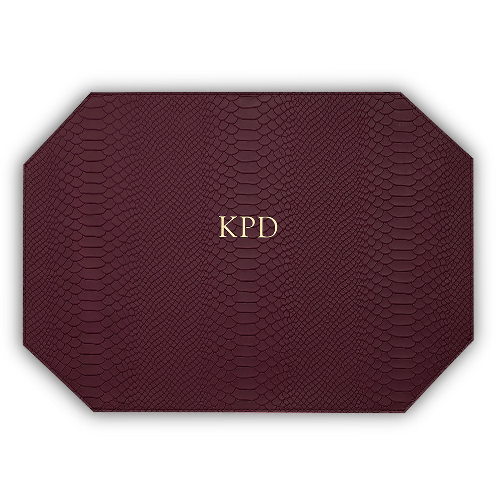 Burgundy Leather Placemat