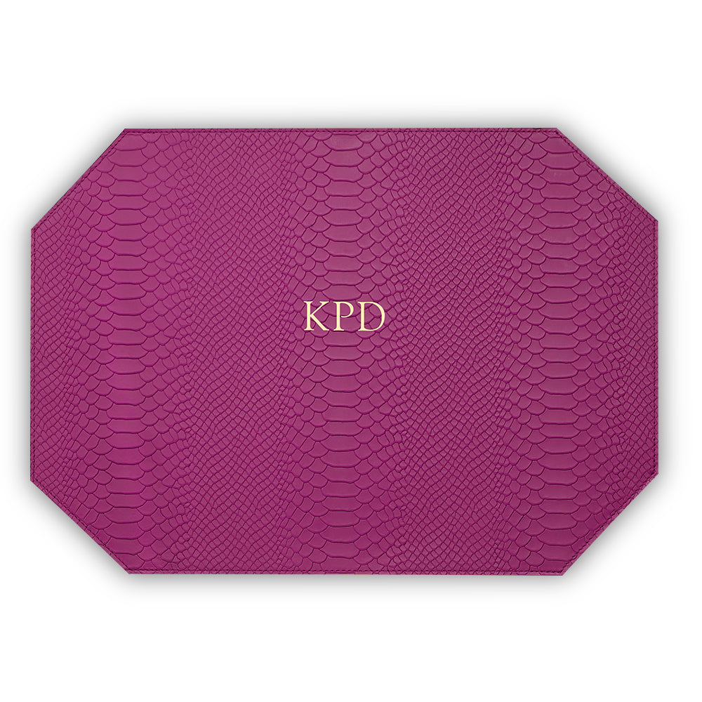 Orchid Leather Placemat