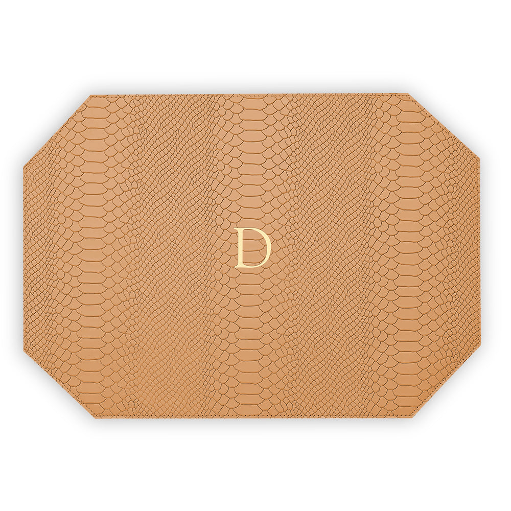 Tan Leather Placemat