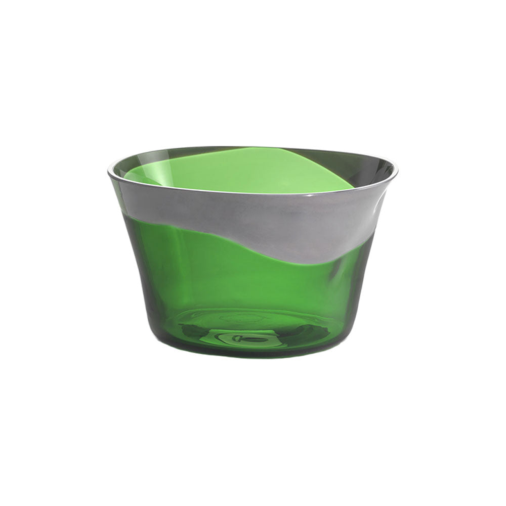 Nason Moretti Gray with Green Dandy Bowl