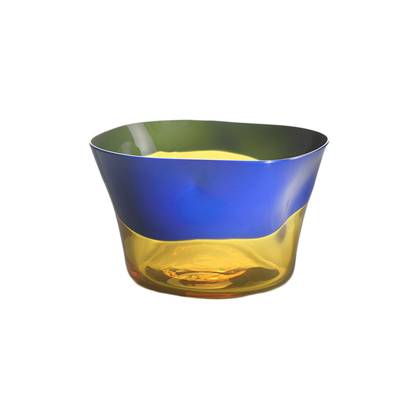 Nason Moretti Blue with Yellow Dandy Bowl