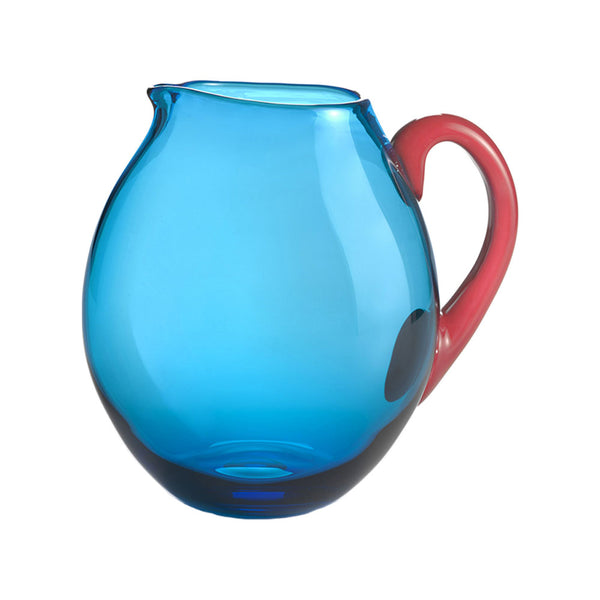 Nason Moretti Coral with Aquamarine Dandy Pitcher