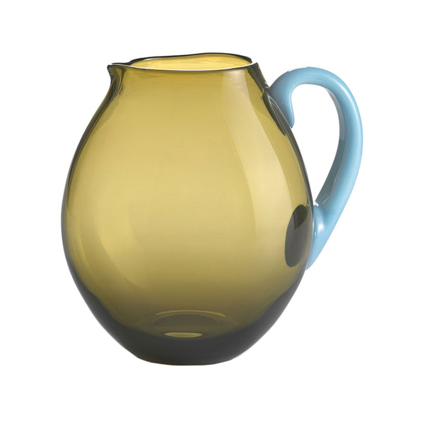 Nason Moretti Brown with Light Blue Dandy Pitcher