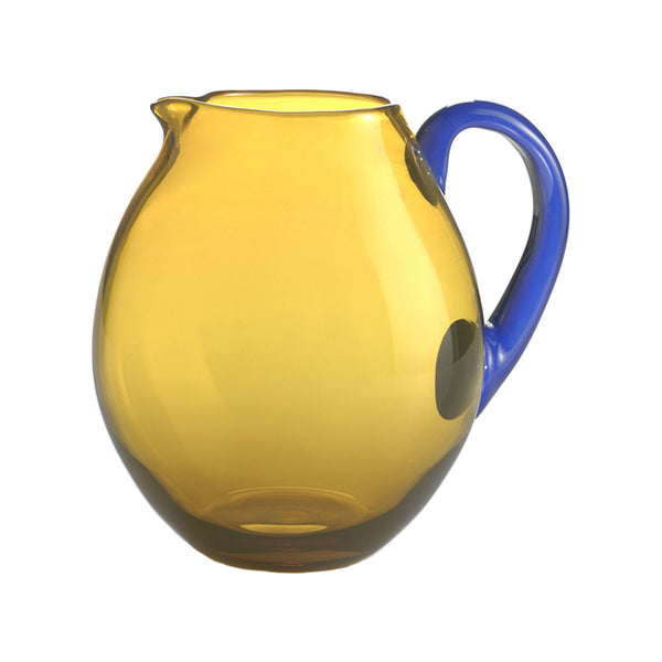 Nason Moretti Blue with Yellow Dandy Pitcher