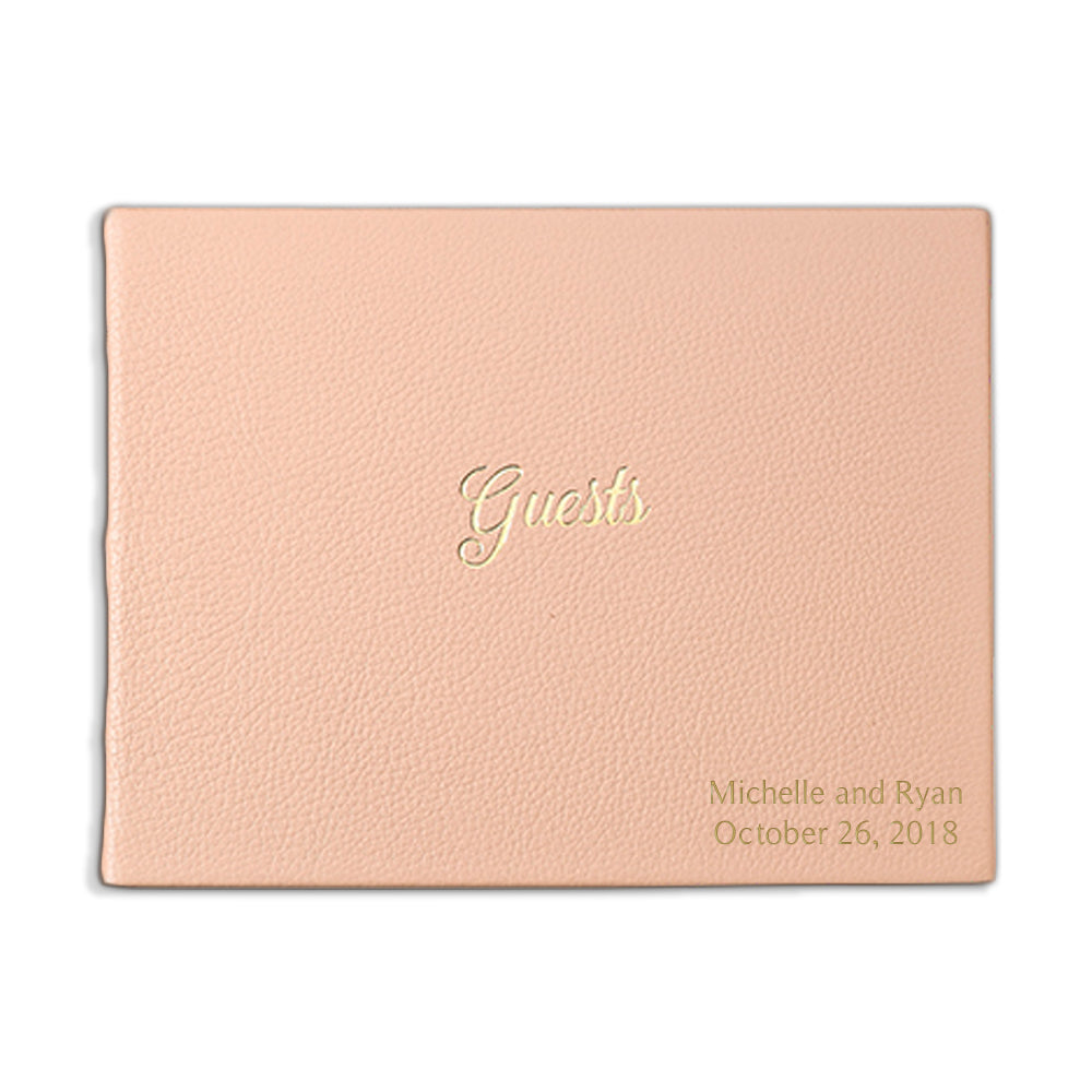 Blush Leather Guest Book