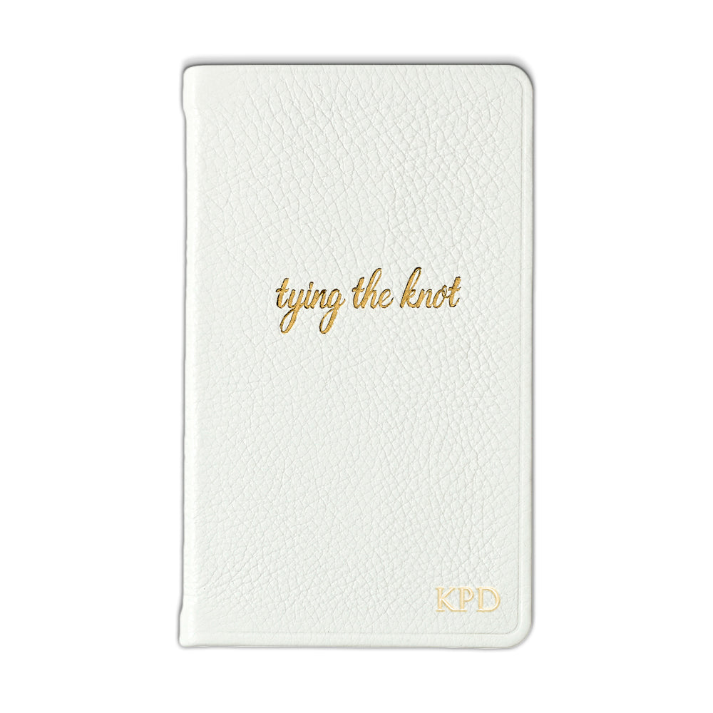 "White ""Tying the Knot"" Pocket Notes"