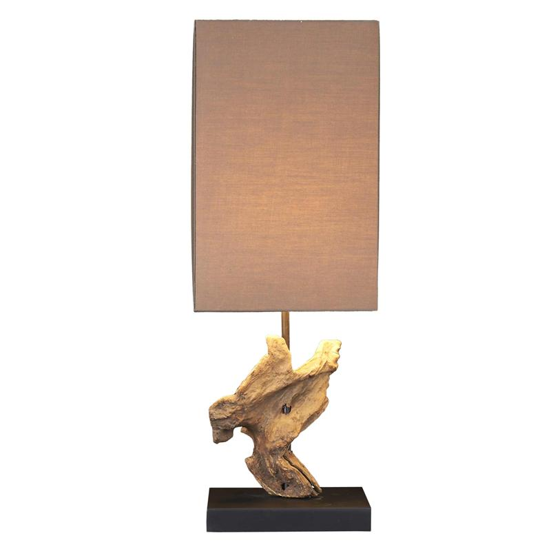 Continental Home Teak Root Table Lamp