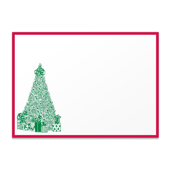 Holiday Christmas Tree Thank You Notes