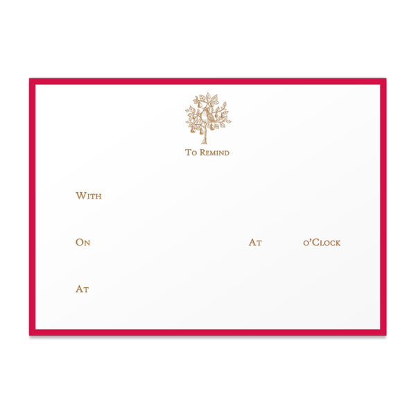 "Partridge ""To Remind"" Note Cards"