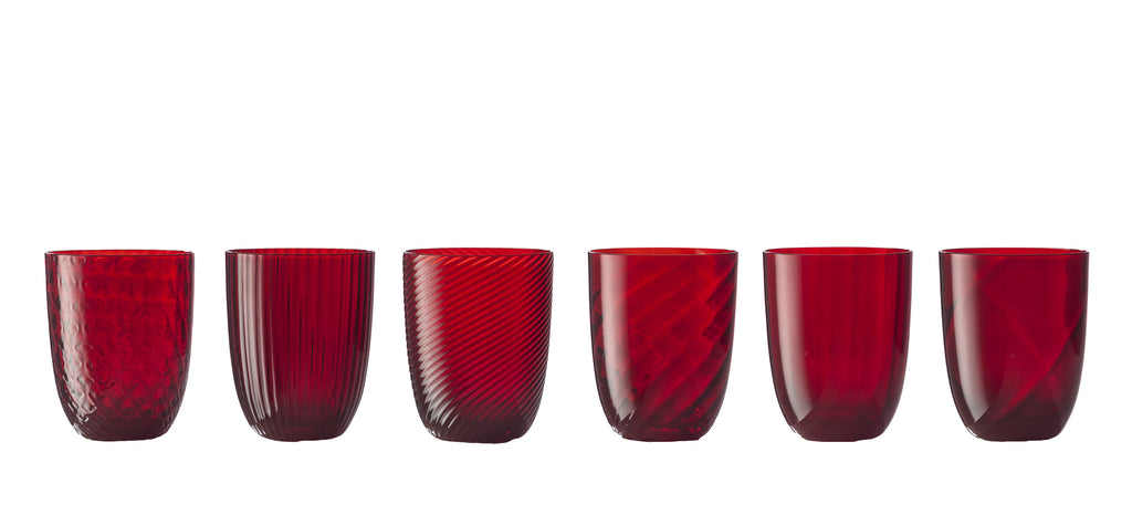 Idra Red set of glasses