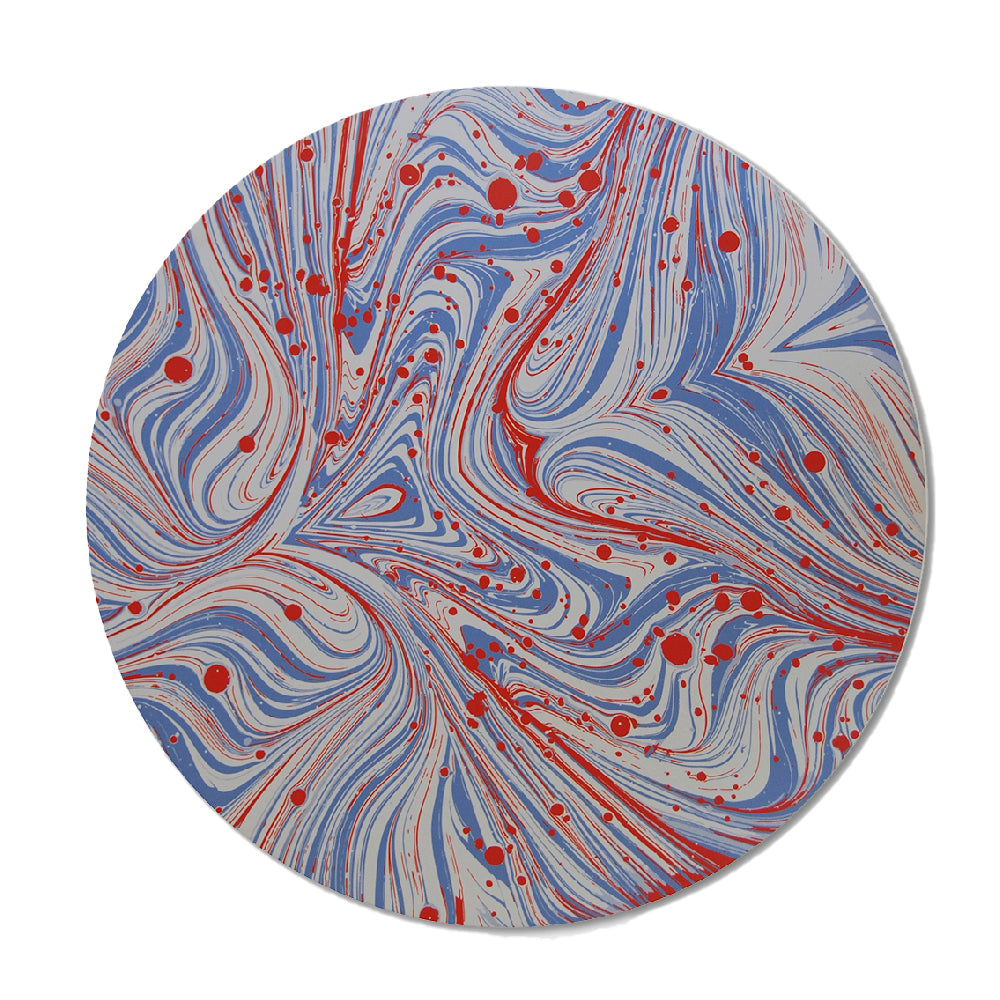 Marble Red and Blue Placemat