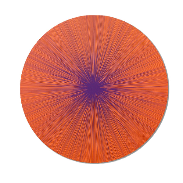 Tisch New York Shadow Lines Persimmon Placemat