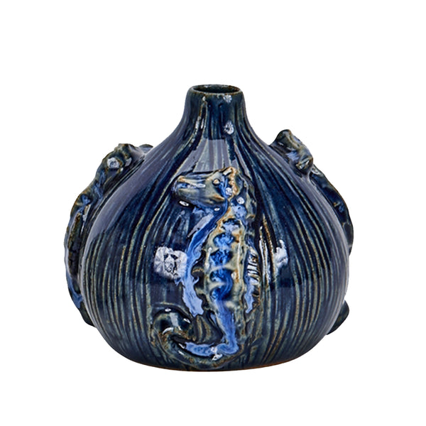 Continental Home Blue Seahorse Vase