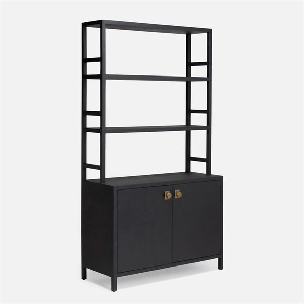 Made Goods Jake Bookcase With Hutch