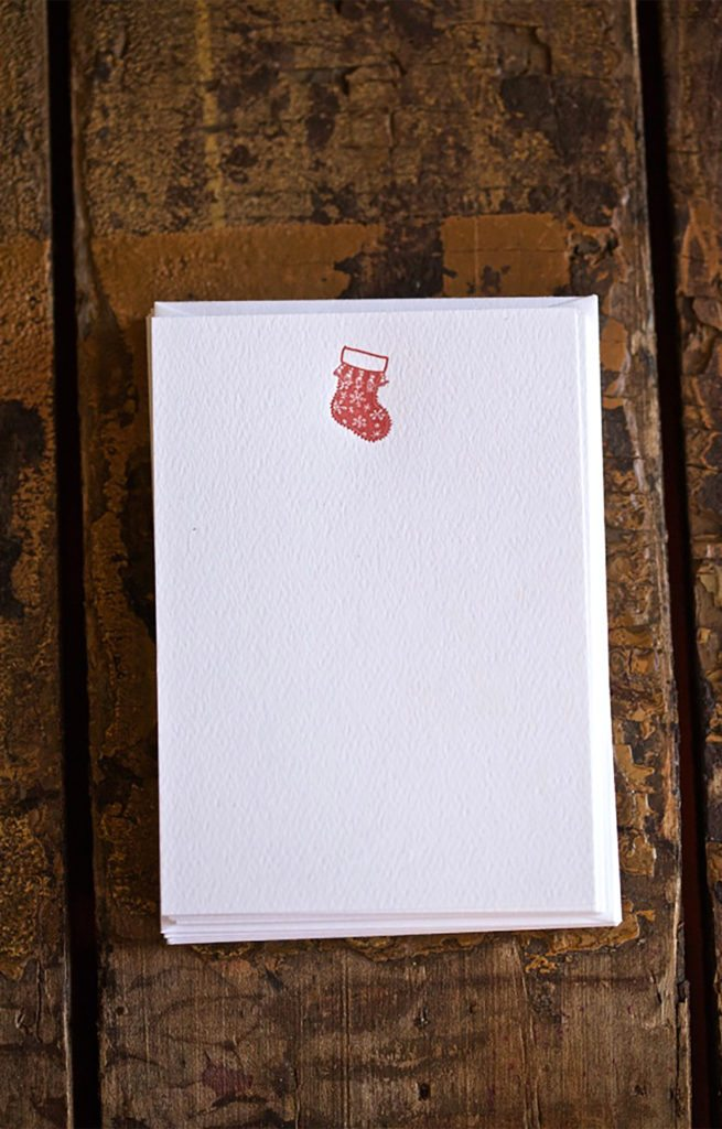 Stocking Note Cards