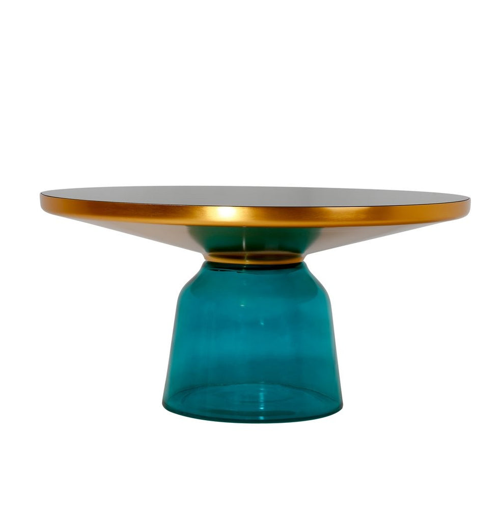 Karin Table Coffee Table - Gold & Green