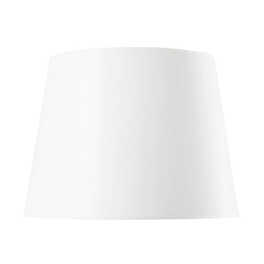 White Paper Shade With Nickel - 16 Inch