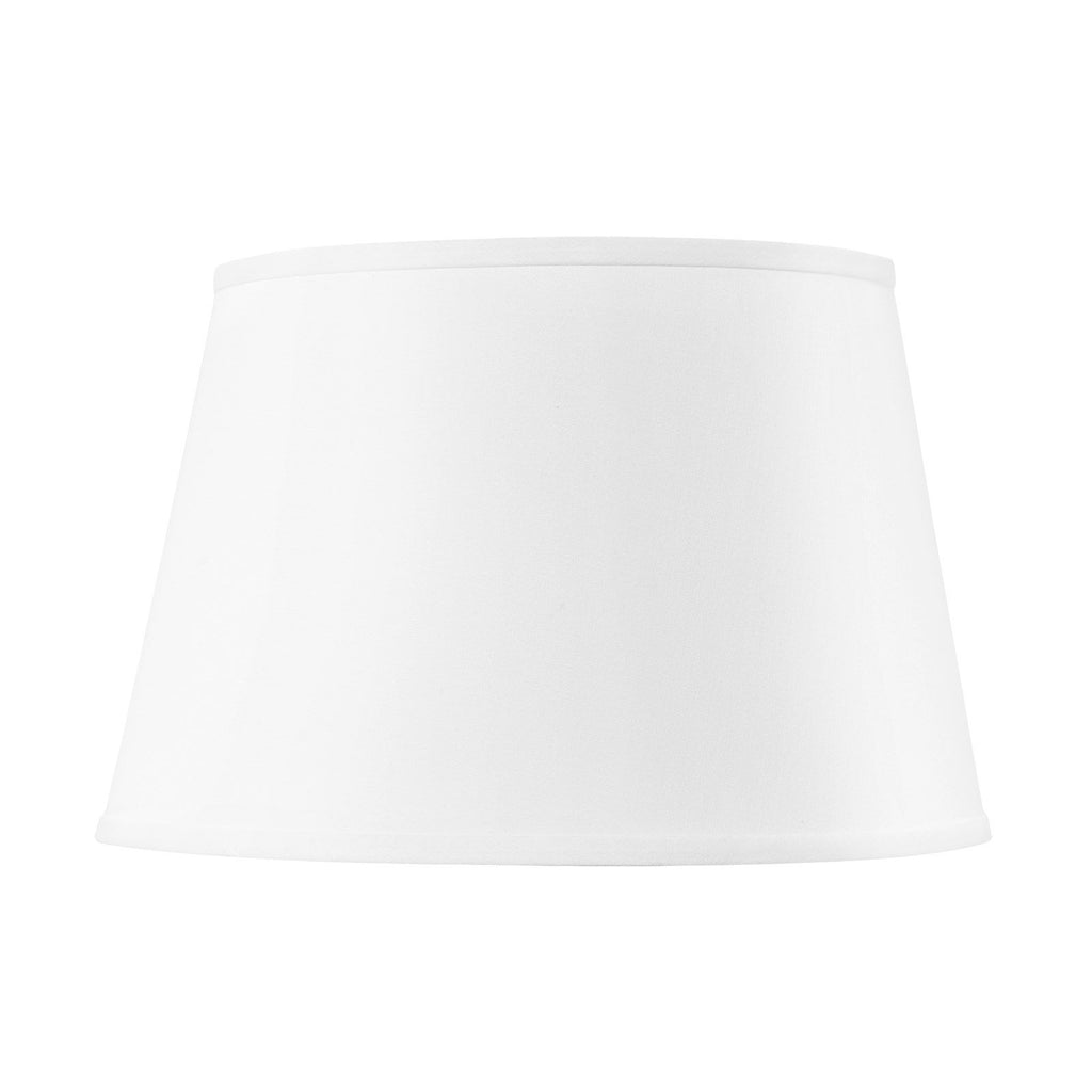 White Linen Shade With Nickel - 16 Inch