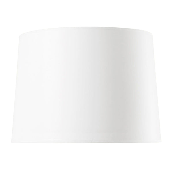 White Paper Shade With Gold - 17 Inch