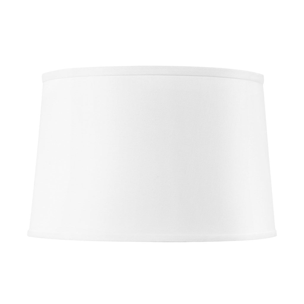 White Linen Shade With Gold - 17 Inch