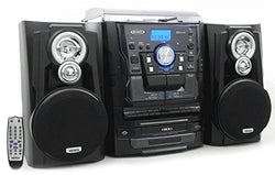 Jensen Shelf Stereo with Turntable, 3 CD Player / Changer & Dual Cassette