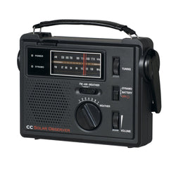 Crane Solar Emergency AM FM Weather Radio