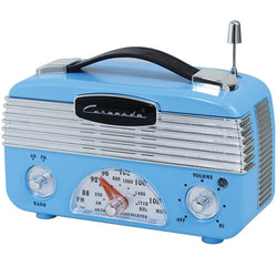 Coronado Retro Blue Vintage Style AM/FM Radio