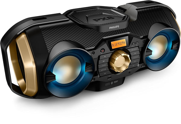 boombox stereo Wirelessly Stream Music from Smartphone, Tablet, Other Devices via Bluetooth
