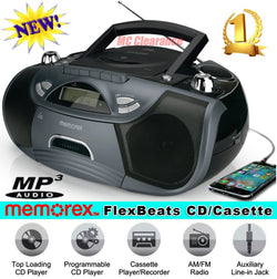 Memorex Boombox with CD Cassette Recorder AM/FM Radio