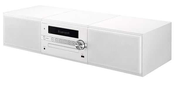 Pioneer 30 Watts Mini Stereo System with Bluetooth, CD, Radio - White Color