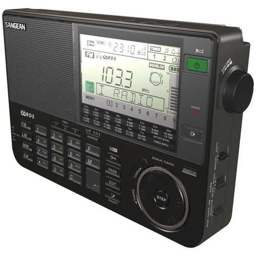 Sangean AM/FM/LW/SW World Band Radio with Lage LCD Screen