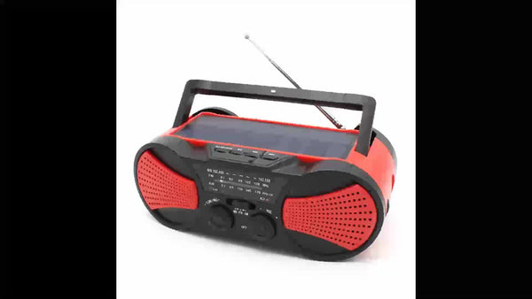 Portable Solar Powered Hand Crank AM/FM/NOAA Weather Alert Radio