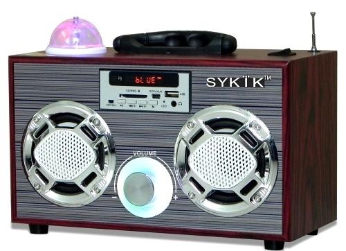 Sykik Bluetooth Audio Boombox with Disco Light Show