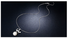 Siberia - 925 Silver Cat&Pearl  Necklace