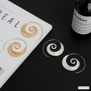 Siberia - Round Spiral Earrings