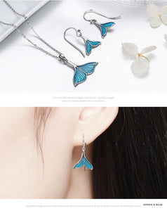 Siberia - Silver Mermaid Drop Earrings