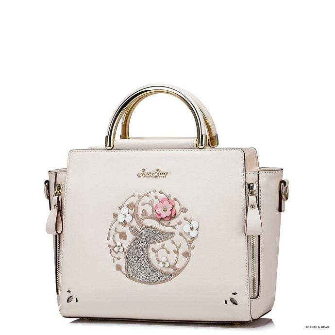 Elle - Embroidery Shoulder Bag