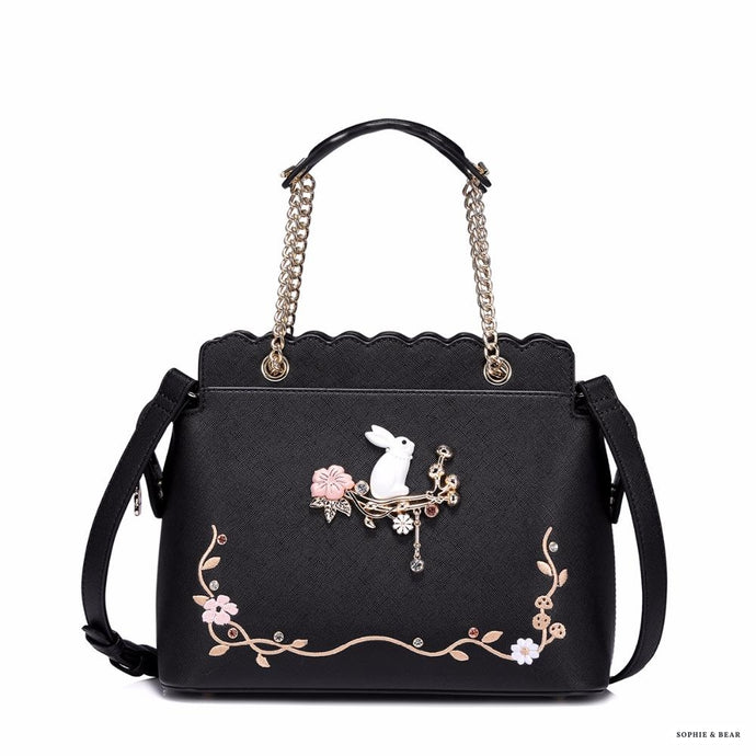 Lolita - Floral White Rabbit Bag