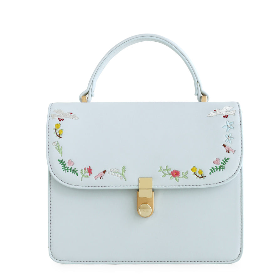 Emilie - Bird Embroidery Tote Shoulder Purse