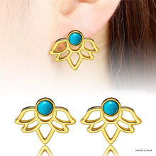 Siberia - Retro Lotus Earrings