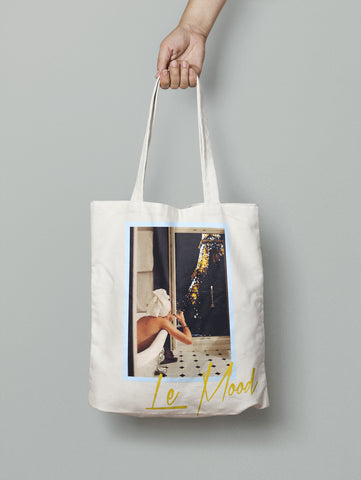 In the Mood for Paris Tote Bag (Blue)
