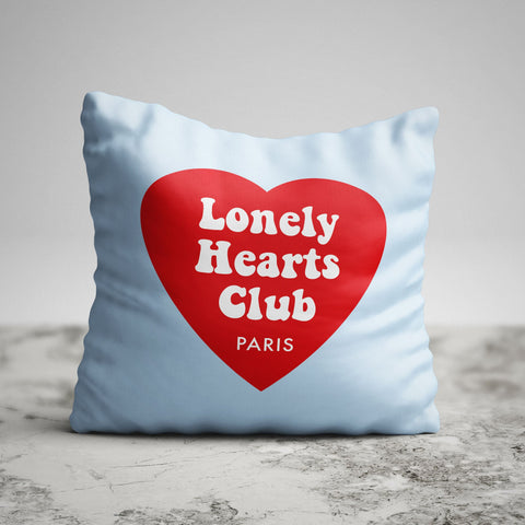 """Lonely Hearts Club"" Pillow"
