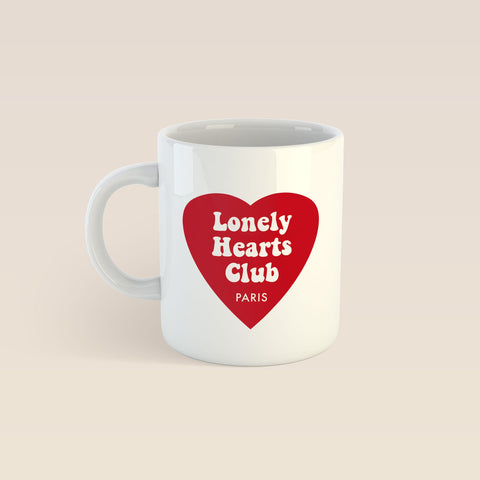 """Lonely Hearts Club"" Coffee Cup"