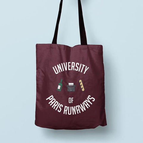 """Paris Runaways"" Canvas Bag"