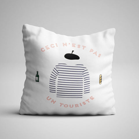 """Not a Tourist"" Pillow"