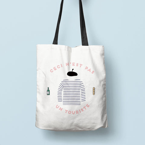 """Not a Tourist"" Canvas Bag"