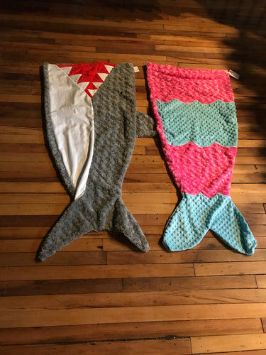 Shark and Mermaid Blankets
