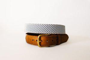 NAVY STRIPE BELT