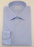 Blue Bio Cotton Shirt With Classic Collar