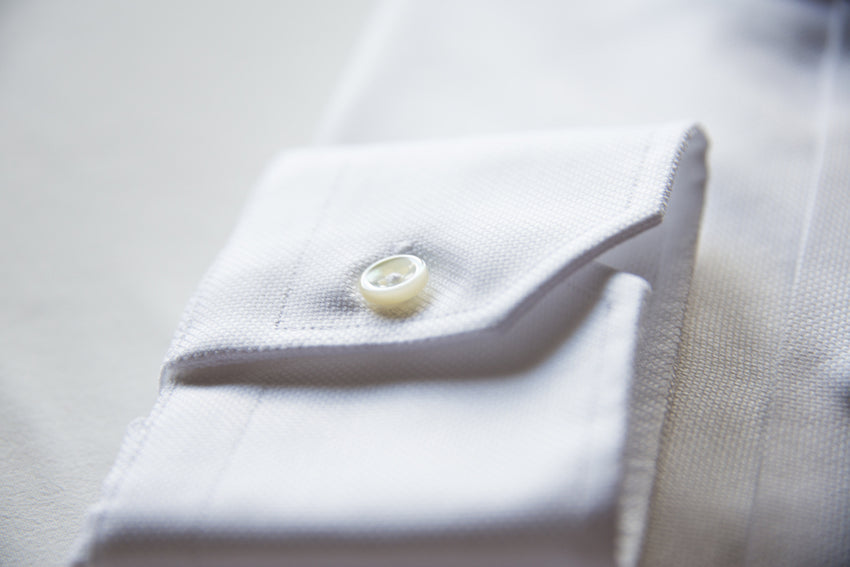 Bio-Cotton White Oxford Shirt Cutaway Collar